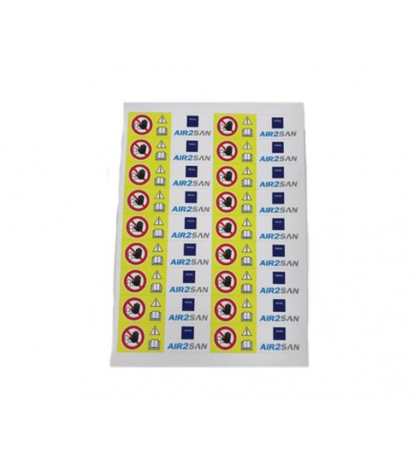 SANITATION STICKERS (X25 SHEETS)