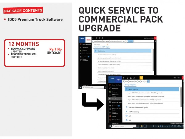 QUICK SERVICE TO COMMERCIAL PACK UPGRADE