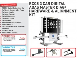 12 months RCCS 3 CAR DIGITAL ADAS MASTER DIAG/HARDWARE & ALIGNMENT KIT