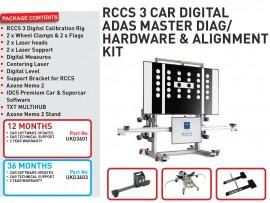 36 months RCCS 3 CAR DIGITAL ADAS MASTER DIAG/HARDWARE & ALIGNMENT KIT