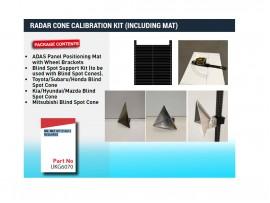 Radar Cone Calibration kit including Mat