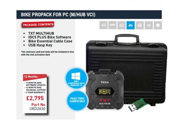 BIKE PROPACK FOR PC (TEXA NAVIGATOR TXT MULTIHUB VCI)