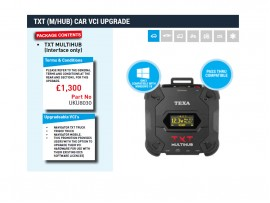 TXT (TEXA NAVIGATOR TXT MULTIHUB) CAR VCI UPGRADE