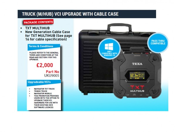 TRUCK (TEXA NAVIGATOR TXT MULTIHUB) VCI UPGRADE With CABLE CASE